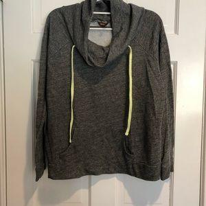Hive & Honey Grey Cowlneck Sweatshirt NWOT
